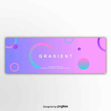 pink 편평 gradually changes with the banner Template
