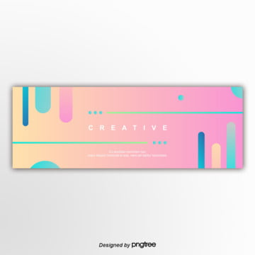 pink 편평 graphics banner gradually changes Template