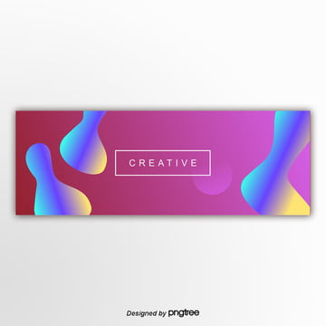 the purple fluid gradually changes banner abstract background Template