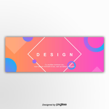 rose red color and graphics 편평 banner gradually Template