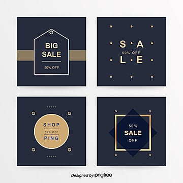 gorgeous gold go about business sns promotional package Template