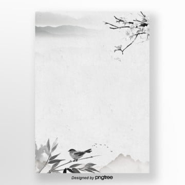 gray simple ink poster background Template