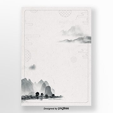 simple simple traditional landscape ink poster background field Template