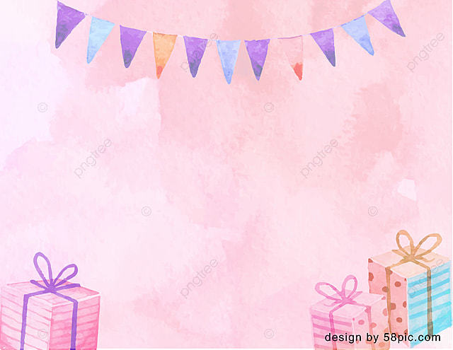 Incredible Pink Hand Painted Bunting Cake Hat Happy Birthday Card Template Personalised Birthday Cards Bromeletsinfo