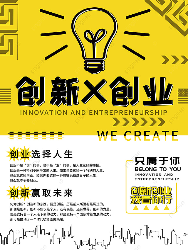 creative innovation and entrepreneurship poster design template