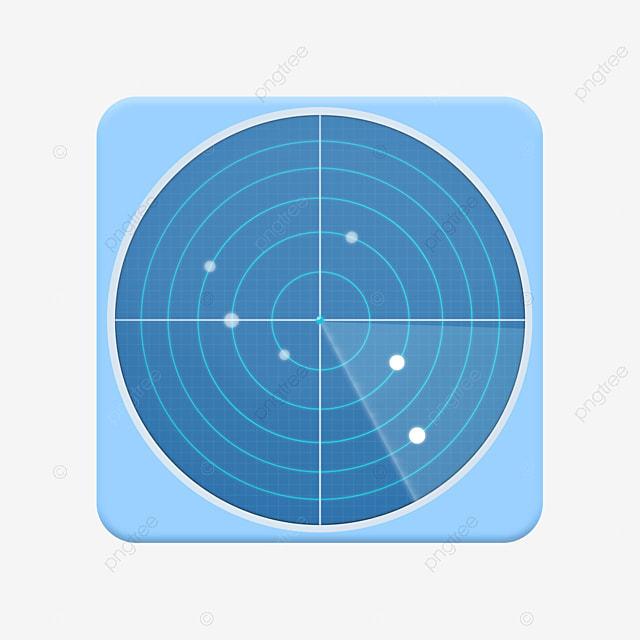 Mobile radar APP software icon PSD material app icon PSD