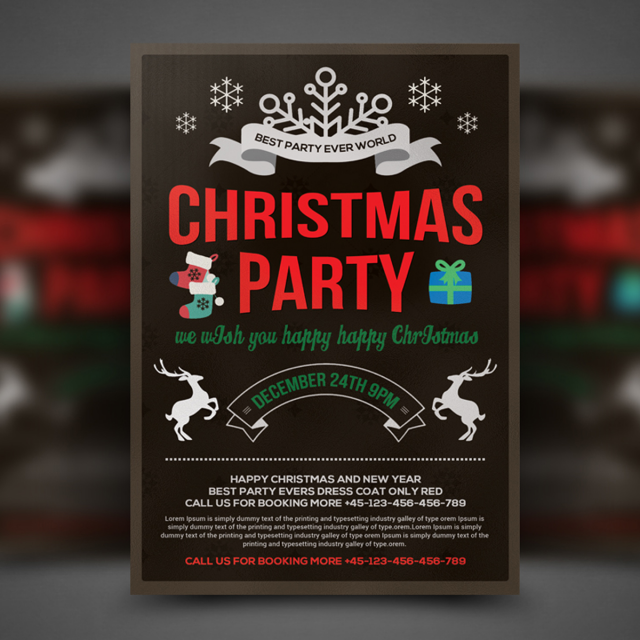 christmas celebration flyer template template for free download on