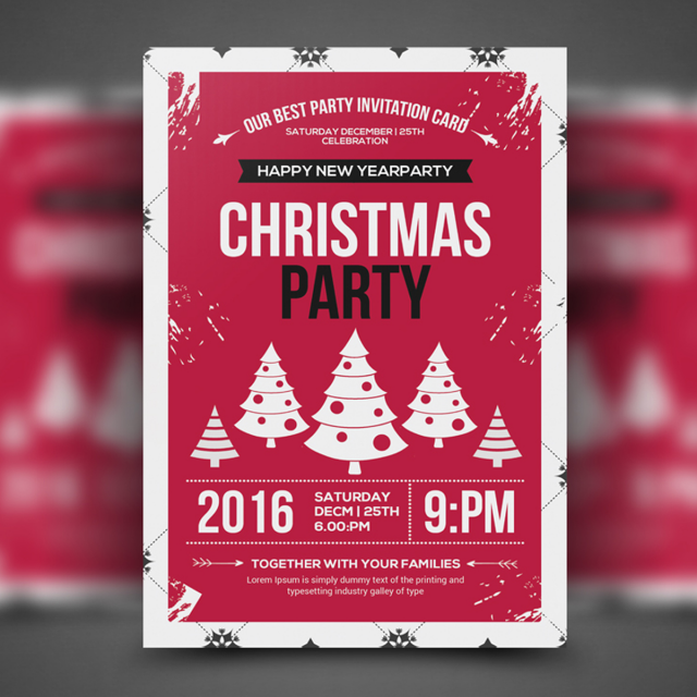 Happy Christmas Flyer Template Template For Free Download On Pngtree