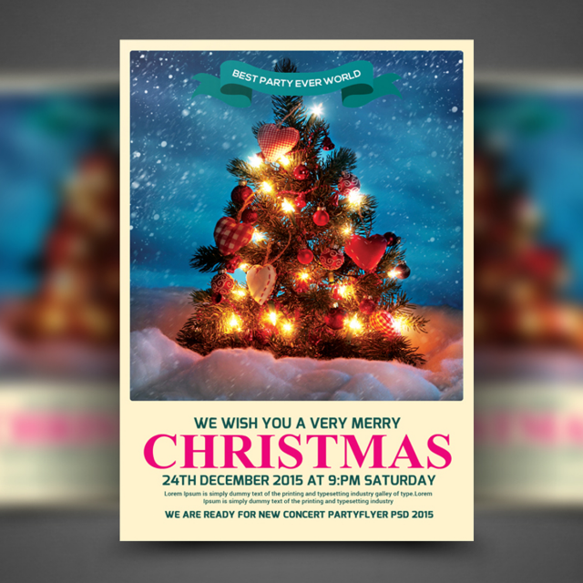christmas party flyer template template for free download on pngtree