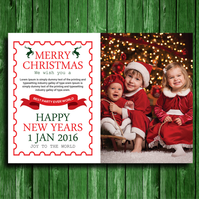 kids christmas card template