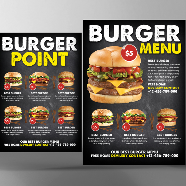 burger food menu psd Template for Free Download on Pngtree