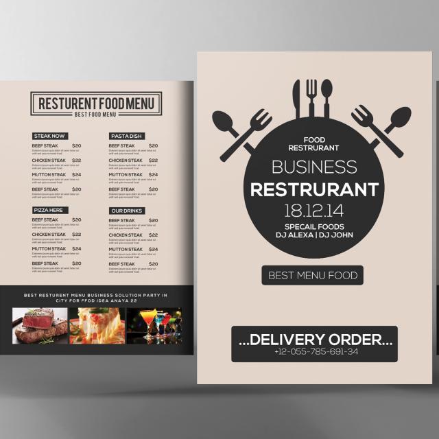 Restaurante comida menu PSD Descarga gratuita de plantilla en Pngtree
