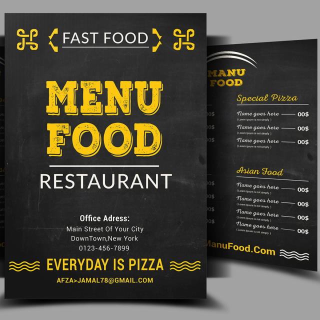 best food menu psd template for free download on pngtree