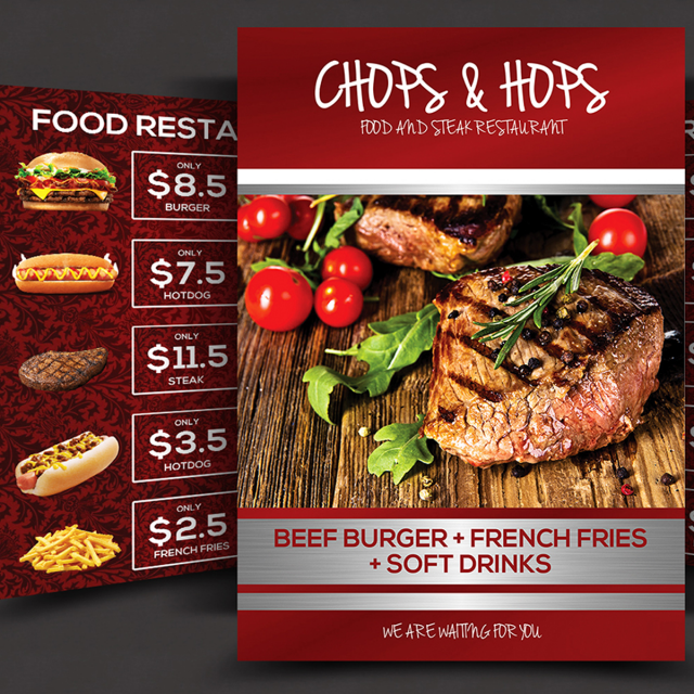 Food Menu Flyer Template For Free Download On Pngtree