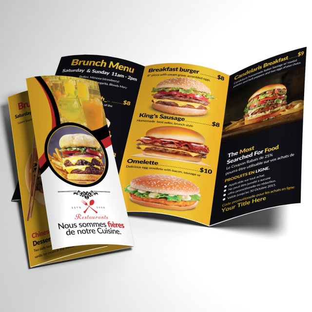 food menu trifold template for free download on pngtree