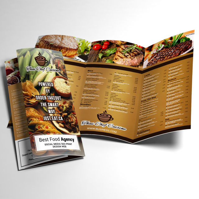 Food Menu Trifold Template For Free Download On Pngtree - Menu brochure template