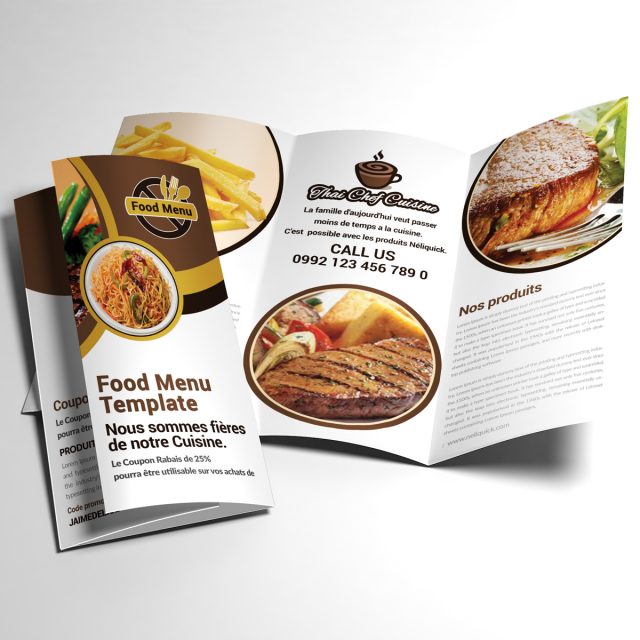 Food Menu Trifold Template Free Download On Pngtree - Menu brochure template free