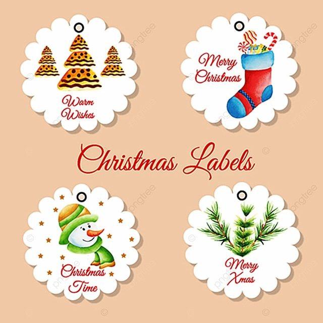 Colección de etiquetas de Navidad Descarga gratuita de plantilla en ...