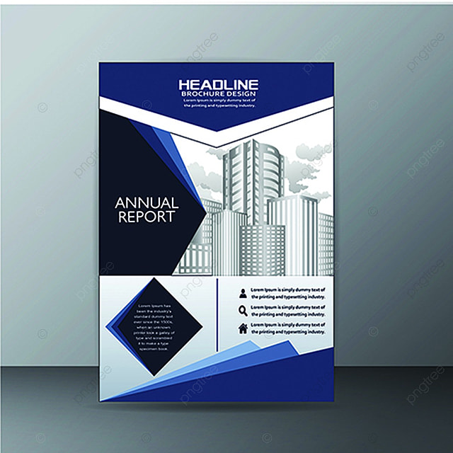 Blue Vector Business Brochure Template Template For Free Download - Business brochure templates free download