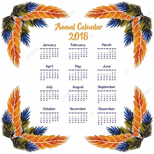 Calendario anual de 2018 Descarga gratuita de plantilla en Pngtree