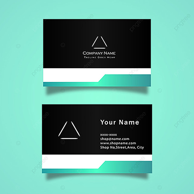 Blue And Black Vector Business Card Template