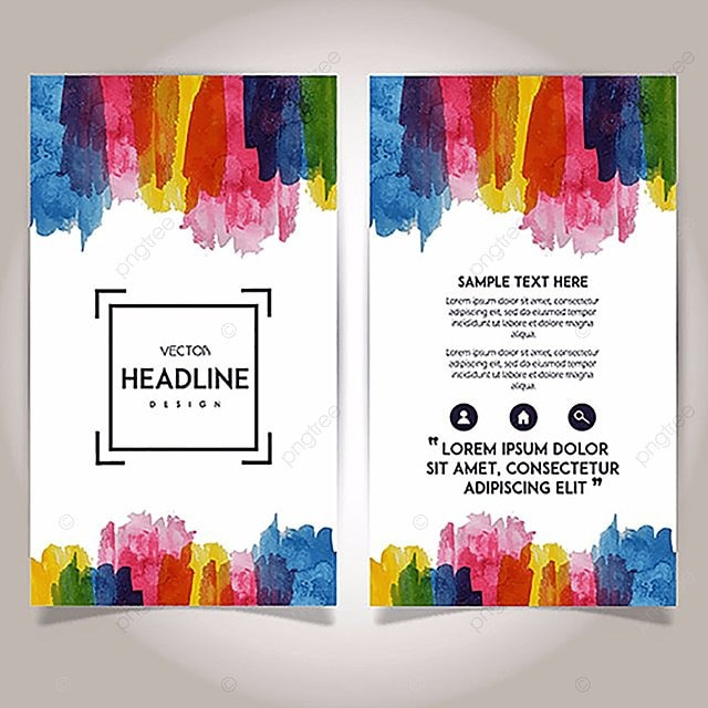 c u00f4t u00e9 appel u00e9e aquarelle brochure mod u00e8le mod u00e8le de t u00e9l u00e9chargement gratuit sur pngtree