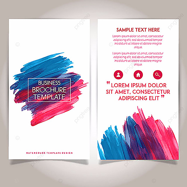 hand drawn watercolor brochure template design template