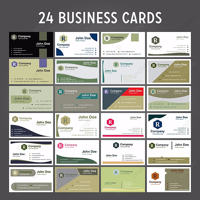 Free Business Card Templates On Pngtree - Free business card templates