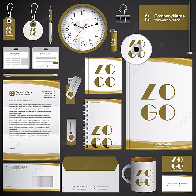 brown stationary branding set Template for Free Download on Pngtree