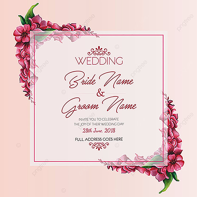 Watercolor Floral Wedding Invitation Template For Free Download On