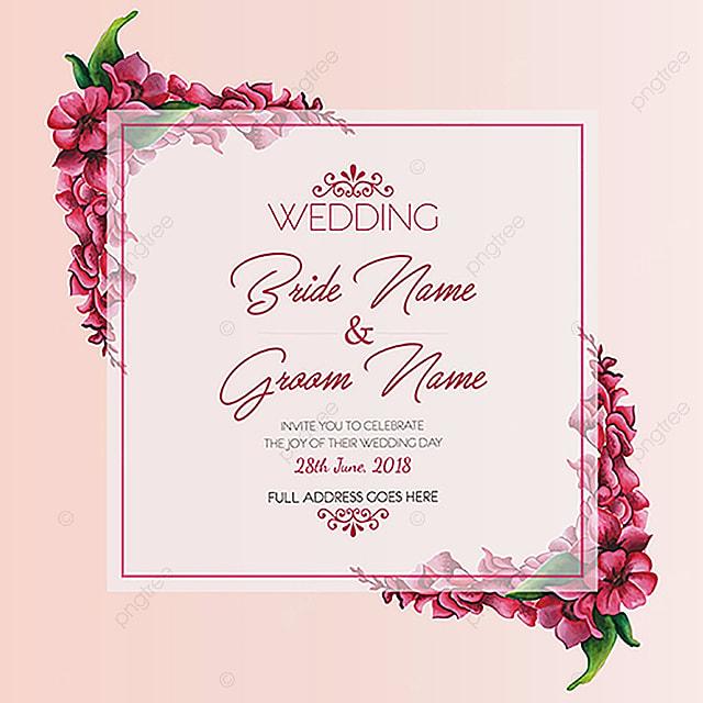 Aquarelle invitation de mariage modle de tlchargement gratuit sur aquarelle invitation de mariage modle stopboris Image collections