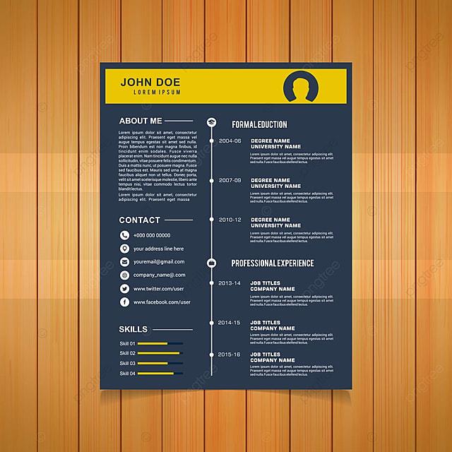 Elegant minimalistic modern vector resume or cv template designed elegant minimalistic modern vector resume or cv template designed on a4 page easy to edit yelopaper Choice Image