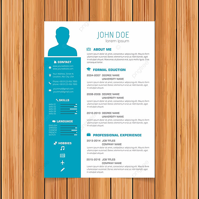 elegant minimalistic modern vector resume or cv template designed on a4 page  easy to edit