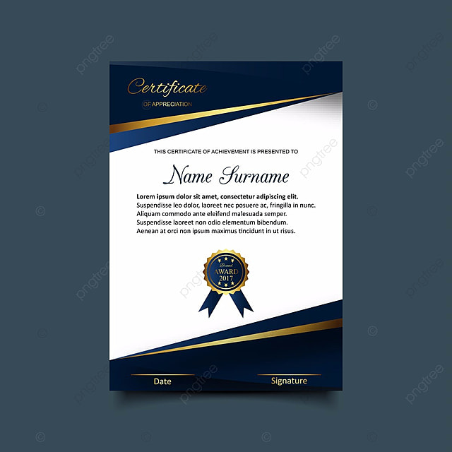 certificate template with luxury and modern pattern ...