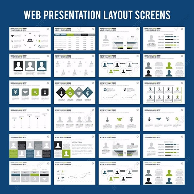 elements of infographics for presentations templates. leaflet, Report Presentation Template, Powerpoint templates