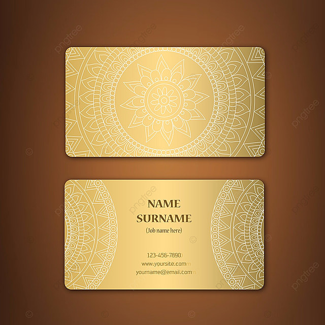 Mandala Design Visiting Card Template For Free Download On Pngtree - Design business card template
