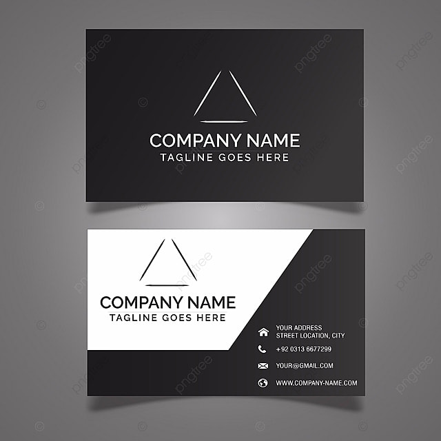 Black Business Card Template Template For Free Download On Pngtree - Template for a business card