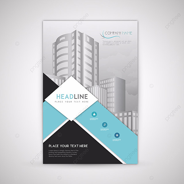 blue and black business brochure template template