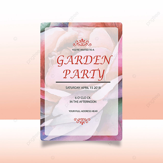 Garden party invitation card template for free download on pngtree garden party invitation card template stopboris Choice Image