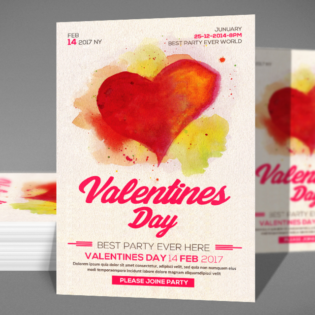 Valentines Day Flyer Psd Template For Free Download On Pngtree