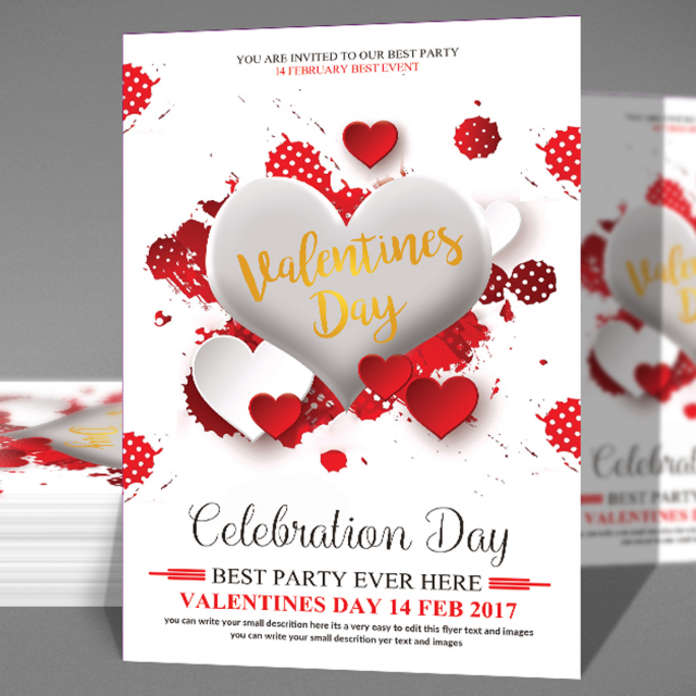 Valentines Day Psd Template For Free Download On Pngtree
