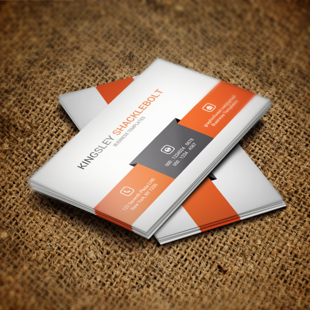business card psd template template