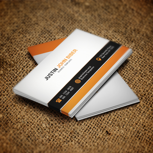 business card presentation template psd - white business card psd template template for free