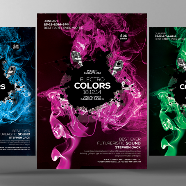 Smoke Colors Party Flyer Template For Free Download On Pngtree