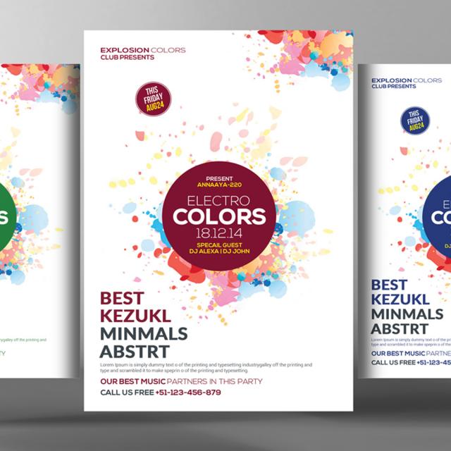 elektro farben party flyer Vorlage zum kostenlosen Download auf Pngtree
