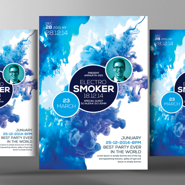Smoke Flyer Psd Template Template For Free Download On Pngtree