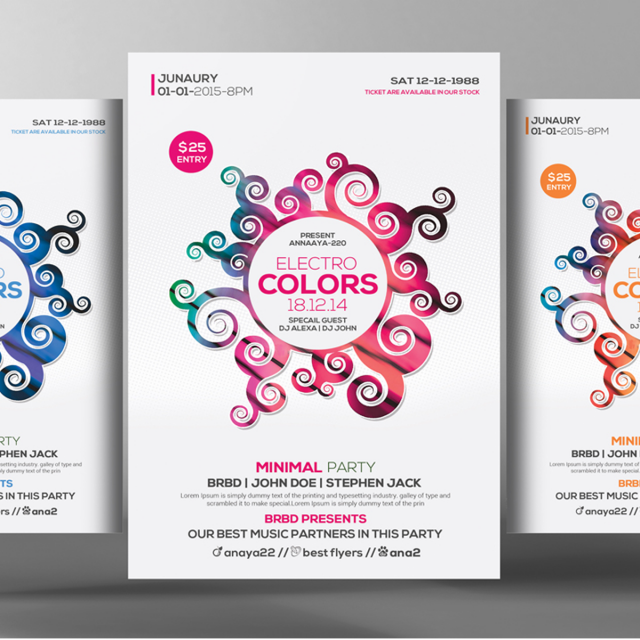 Colors Flyer Poster Templates Template For Free Download On Pngtree