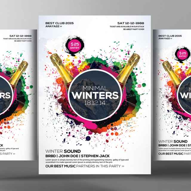 winters flyer poster templates modelo para download gratuito no pngtree
