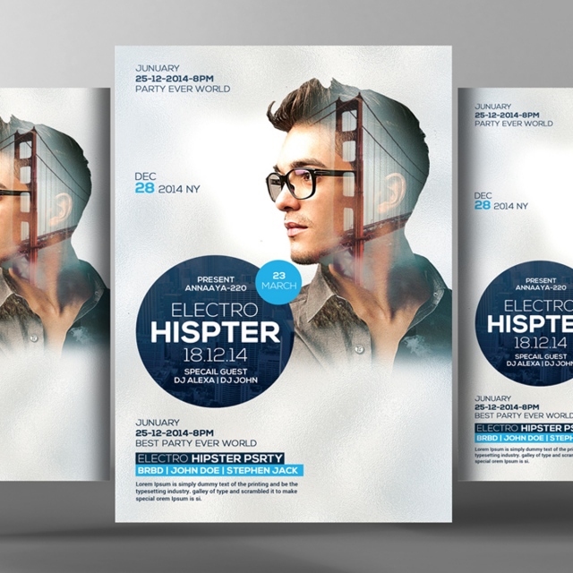 Hipster Flyer Poster Templates