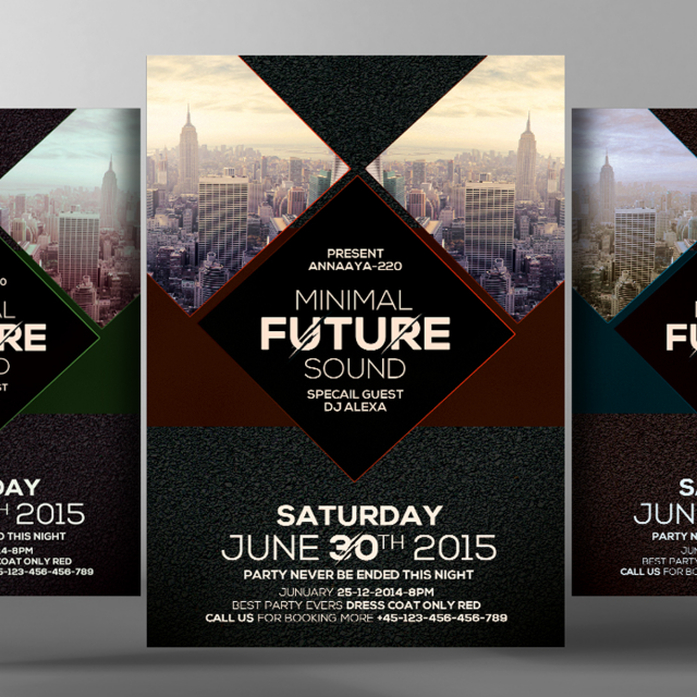 Electro Future Flyer Poster Templates Template For Free